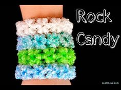 How to Make the Rainbow Loom Rock Candy Bracelet - http://rainbowloomsale.com/how-to-make-the-rainbow-loom-rock-candy-bracelet/