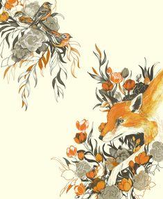 fox in foliage  by Teagan White
