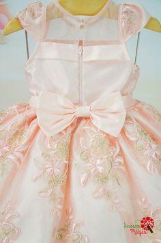 955ce947d61a8 Vestido Infantil de Festa Rosa Chá Bordado Luxo Petit Cherie Festas Rosa,  Vestido Infantil Festa