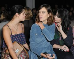 Alexa with Pixie Geldof and Daisy Lowe at the House of Holland show