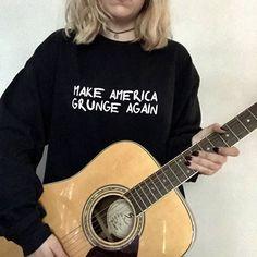 Make America Grunge Again Grunge Sweatshirt Grunge Shirt