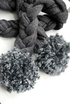cómo hacer una moderna bufanda con un suéter.
