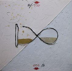 S/TOP You - Olio su tela, foglia oro, foglia argento e filo di ferro - 80×80 cm - 2011