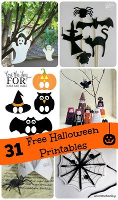Enjoy counting down to Halloween with these fun & free paper printables for each day of October! #halloween