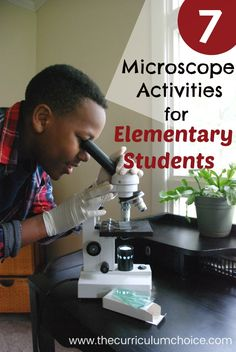 7 Fun Microscope Activities for Homeschool Elementary Students 7 Fun Microscope Activities for Homeschool Elementary Students. My children get very excited using REAL science equipment! Your student might appreciate this hands-on learning. Microscopes and Elementary Science, Science Experiments Kids, Middle School Science, Science Lessons, Teaching Science, Science Education, Science For Kids, Science Activities, Science Fun