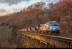 RailPictures.Net Photo: NS 4001 Norfolk Southern GE AC44C6M at Clinchport, Virginia by Gage ODell