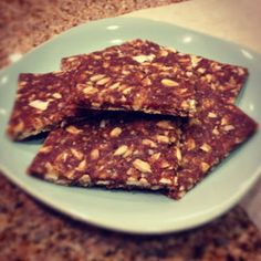 Sooo Paleo Bars Ingredients: - 8 oz. of whole pitted dates - 1/3 cup almond flour - 1 Tbsp. coconut oil - 1/4 cup unsweetened coconut flakes - 1/4 cup raw sunflower seeds - 1/4 cup sliced almonds