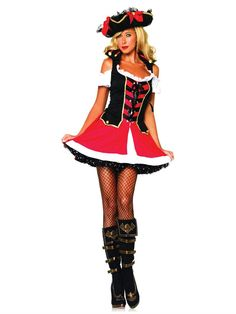 PIN 10 for 10% off! Pirate Aye Aye Admiral Halloween Costume - Leg Avenue