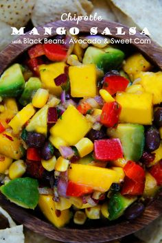 CHIPOTLE MANGO SALSA WITH BLACK BEANS, AVOCADO & SWEET CORN