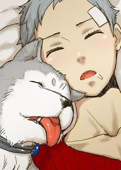 Persona 3 - Koromaru and Akihiko