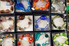 Murano glass bracelets!! the original murano glass products  On www.labottegadeicristalli.com