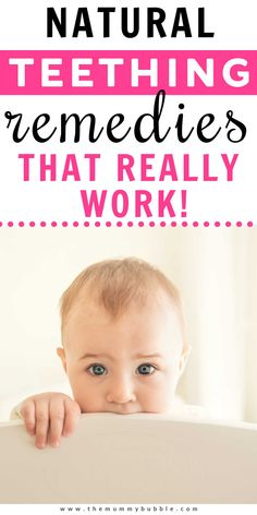 Natural teething remedies for babies. DIY tips to help your baby cope with teething pain in the day and night. These tips will help you all get a better night's sleep! #teething #teethingremedies Baby Teething Remedies, Natural Teething Remedies, Teething Chart, Taking Care Of Baby, Newborn Baby Tips, Baby Massage, Babies First Year, Baby Led Weaning