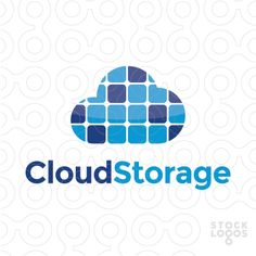Exclusive Customizable Logo For Sale: Cloud Storage Computing | StockLogos.com