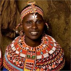 Samburu Woman of Kenya. Most Kenyans have adopted semi-western lifestyles, except for a few tribe, including the Maasai, Turkana and Sambura, who prefer to follow their traditional life styles and fashions.