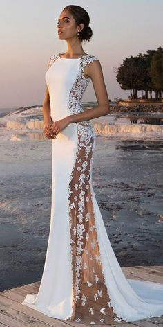 Fabulous Stretch Chiffon Bateau Neckline See-through Mermaid Wedding Dress With Beaded Lace Appliques Fabelhafter Stretch-Chiffon-Bateau-Ausschnitt Durchsichtiges Meerjungfrau-Hochzeitskleid Bridal Dresses 2018, Bridal Gowns, Bridesmaid Dresses, Prom Dresses, Formal Dresses, Bride Dresses, Maxi Dresses, Bridesmaids, Wedding Dress Trends