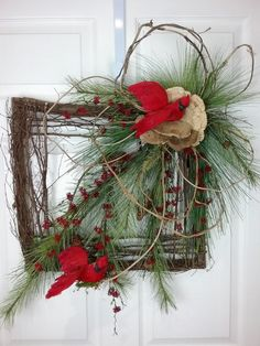 Hey, I found this really awesome Etsy listing at https://www.etsy.com/listing/473115990/christmas-wreath-natural-wreath-square