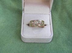Vintage Substantial Solid Yellow 14k Gold Emerald by ExpressionsPA