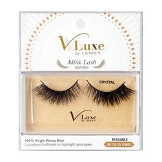 24504e092cd V-Luxe I Envy - VLEF02 Crystal - Mink Lash Inspired 100% Virgin Remy  Tapered End Strip