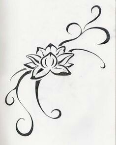 Lotus flower design tattoo