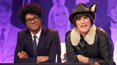 Photo still from The Big Fat Quiz of I can't wait to watch it. LOVE Noel Fielding and Richard Ayoade. Noel Fielding's Luxury Comedy, Richard Ayoade, The Mighty Boosh, Russell Brand, British Comedy, Perfect People, Book Tv, Dream Team, Pretty Cool