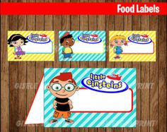Custom DIY Printable Party Decorations by GiseleMPrint on Etsy Printable Banner, Printable Labels, Food Labels, Party Printables, Crazy Straw Valentine, Happy Valentines Day Card, Little Einsteins Birthday, Party Banner, Toy Story Party