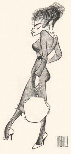 Eartha Kitt by Al Hirschfeld