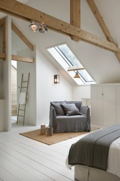 Stylish, sleek and simple loft and attic design. So easy to achieve too. Stylish, sleek and simple loft and attic design. So easy to achieve too. The post Stylish, sleek and simple loft and attic design. So easy to achieve too. Loft, Interior Design, Loft Room, House, Home, Interior, Attic Design, Bedroom Design, Home Decor
