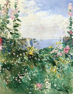 Isles of Shoals Garden, Appledore - Childe Hassam