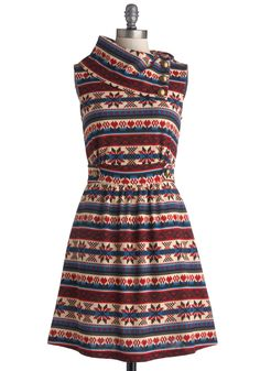 The best dress in the west. In an adorable faux-knit pattern!
