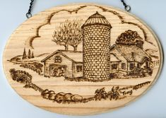 canadian Art of pyrography | Woodburning (Pyrographic Art) - Canadian Countryside Farms and Houses