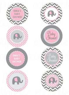 Items similar to Elephant Pink and Gray Chevron Baby Shower - Print Your Own Elephant Baby Shower - Elephant Birthday Party -Elephant Pink Shower -Pink Baby on Etsy Tarjetas Baby Shower Niña, Imprimibles Baby Shower, Baby Shower Tags, Grey Baby Shower, Baby Shower Invitaciones, Baby Shower Themes, Baby Boy Shower, Baby Shower Gifts, Shower Ideas