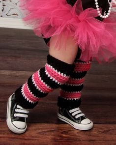 Striped Crochet Leg Warmers by ABugabooBoutique on Etsy, $14.00