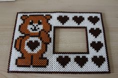 Care Bear photo frame hama beads by Aime Line …