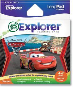 Lernspielzeug LEAPSTER LEAPFROG SPIEL Disney Pixar Cars GUT !!! Kindercomputer !!