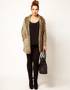ASOS CURVE Leopard (faux) Fur Coat. Think I need this next winter
