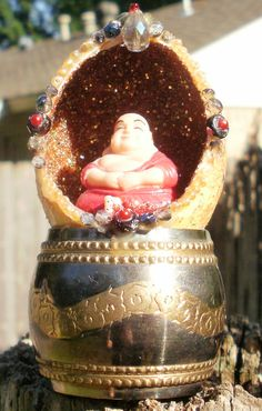 Altered Art Shrine Asian Inspired Laughing Buddha by EllieWellies, $ 22.99