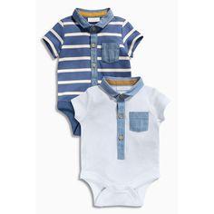 Lot de 2 bodies manches courtes bébé garçon Next - 3Suisses Enfants Stylés 6f3d74e39e2