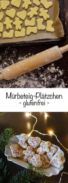 Leckere glutenfreie Plätzchen aus Mürbeteig / Mürbeteig-Plätzchen glutenfrei