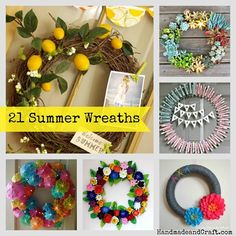 21 Summer Wreaths {D
