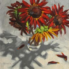 """Daily Paintworks - """"Now we are five  8x 8 oil"""" - Original Fine Art for Sale - © Claudia Hammer"""