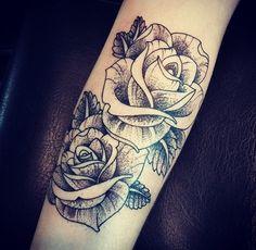 Rose dotwork!