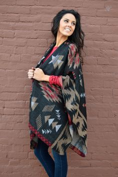 Show Me The Way Navajo Cape from Shop Southern Roots TX