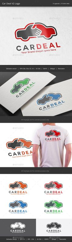 Car Deal V2 Logo — Vector EPS #guarrantee #vehicle • Available here → https://graphicriver.net/item/car-deal-v2-logo/11338080?ref=pxcr