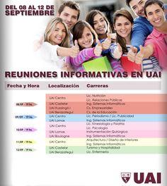 REUNIONES INFORMATIVAS EN UAI  Hacé tu consulta a un representante de #UAI y obtené mayor información sobre cada una de las carreras, ingresando en el siguiente link:  http://quevasaestudiar.com/estudiar-en-Universidad-Abierta-Interamericana-16  #carreras #universidad