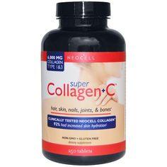 https://iherb.co/3UaWtPeU  1190руб Neocell, Супер коллаген + C, тип 1 и 3, 6000 мг, 250 таблеток Произведено Neocell