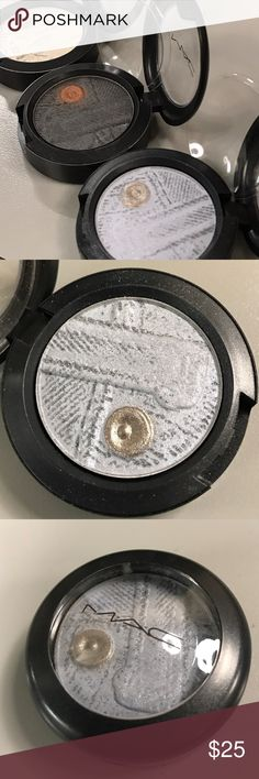 MAC Diva in Distress Jeanius eyeshadow DC LE No box. Swatched very lightly. Sheer icy blue-tinged white with frosted finish. MAC Cosmetics Makeup Eyeshadow