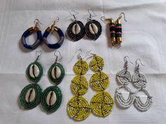 6 pairs of earrings /african beaded earrings  / maasai beaded earrings/ women statement earrings