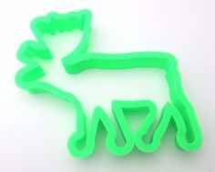Christmas Reindeer Shape Cutter. Colour may vary. 9.5cm high x 9.75cm wide x 1.5cm deep. | eBay!