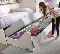 One of our favorite bunk bed ideas Check out our site for full DIY plans if you want to build one! They save valuable space and provide additional surface area for children to play Also a great solu is part of Kids bedroom - Kids Bedroom Designs, Bunk Bed Designs, Kids Room Design, Small Room Bedroom, Girls Bedroom, Bedrooms, Kids Bedroom Furniture, Bedroom Decor, Rustic Furniture