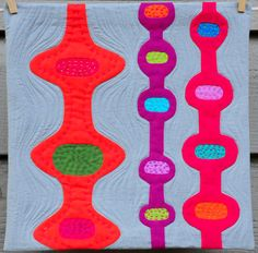 Art Quilt Mid Century Modern by KristinShieldsArt on Etsy